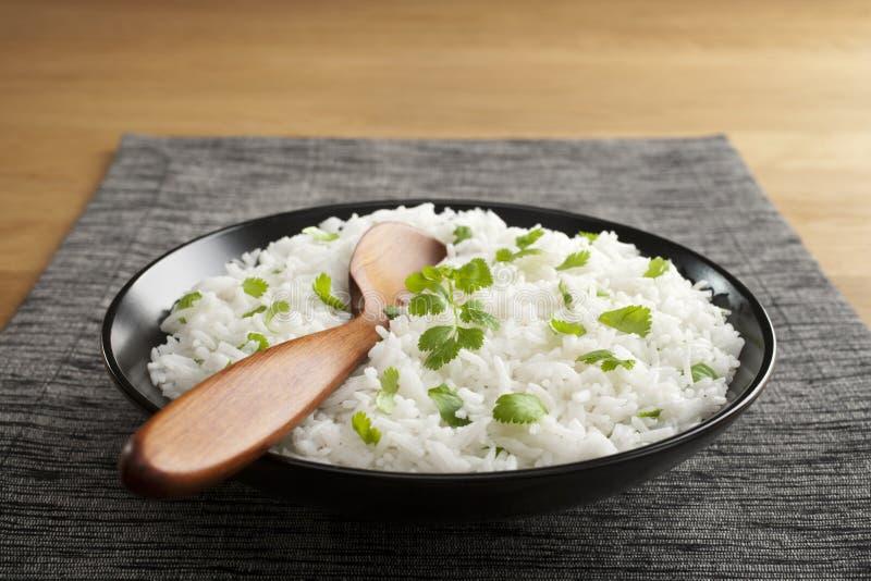 Basmati Rice z kolenderami obraz stock