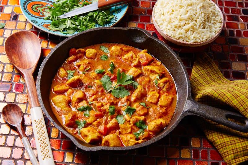 Basmati ris för fegt recept för curry indiskt fotografering för bildbyråer