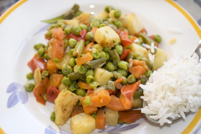 Basmati ryż i warzywa zdjęcia stock