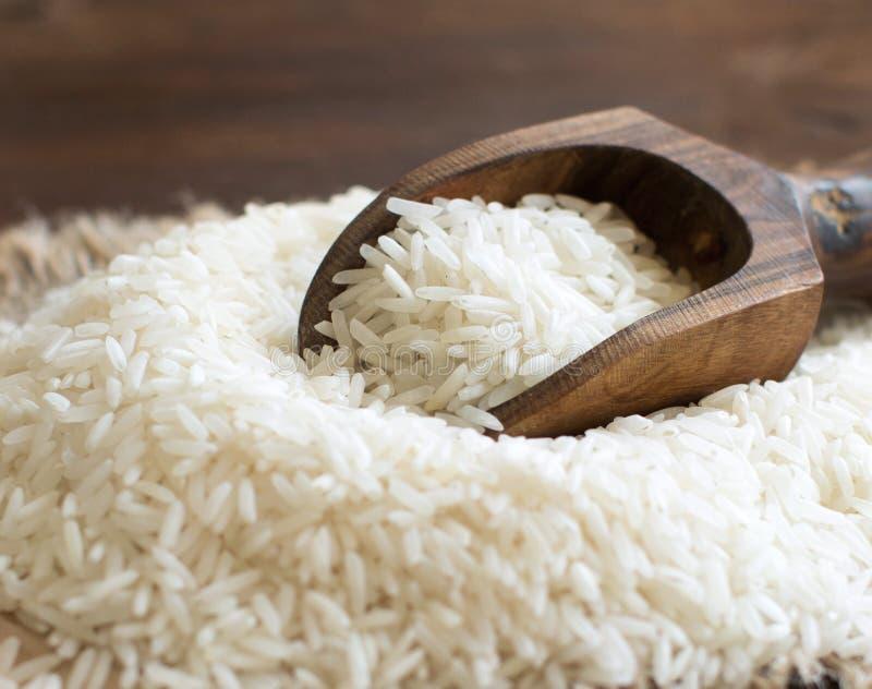 Basmati ryż z łyżką zdjęcie stock
