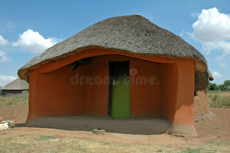 Basotho Traditional Hut stock photography