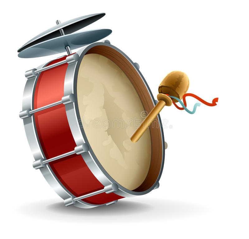 basowego bębenu instrument ilustracja wektor