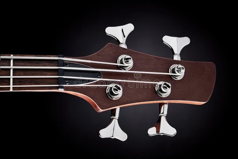 Basowej gitary headstock obraz royalty free