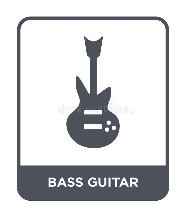 basowej gitary ikona w modnym projekta stylu basowej gitary ikona odizolowywająca na białym tle basowej gitary wektorowa ikona pr ilustracja wektor