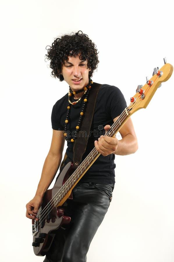 basowej gitary latynos bawić się nastoletni modnego obraz stock