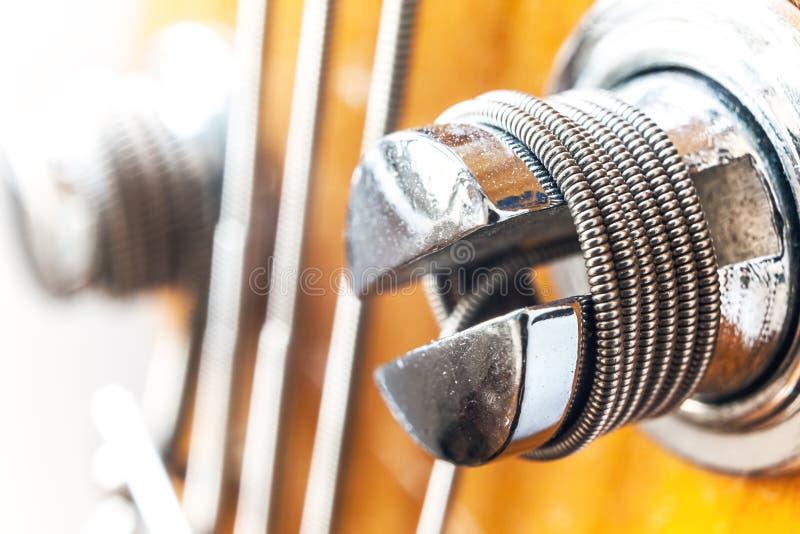 Basowej gitary rygiel fotografia royalty free
