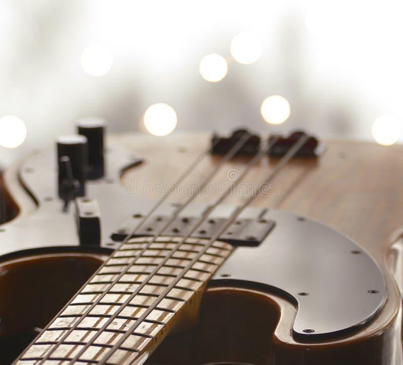 Basowej gitary szyi ostrość obrazy stock