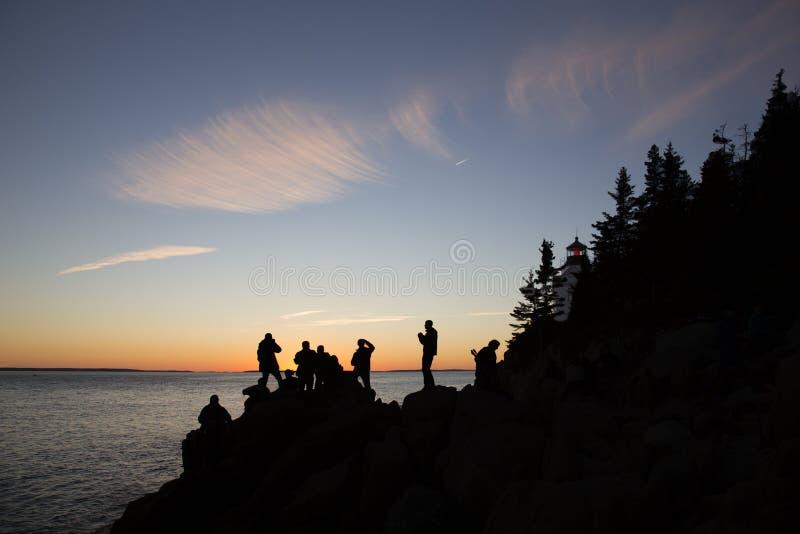 Basowej schronienie głowy Lekki dom, Acadia, park narodowy obraz royalty free