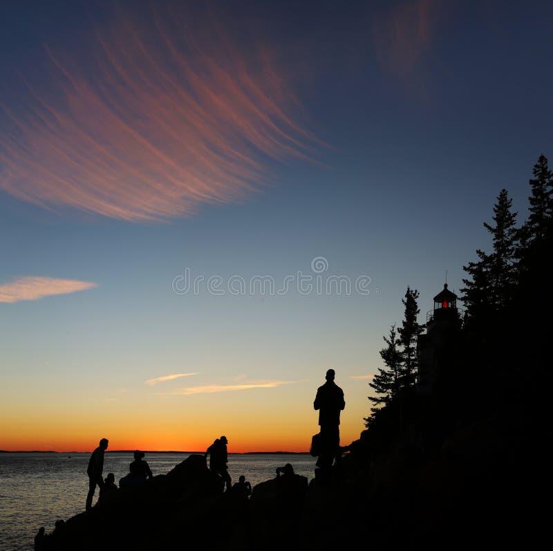 Basowej schronienie głowy Lekki dom, Acadia, park narodowy zdjęcie stock