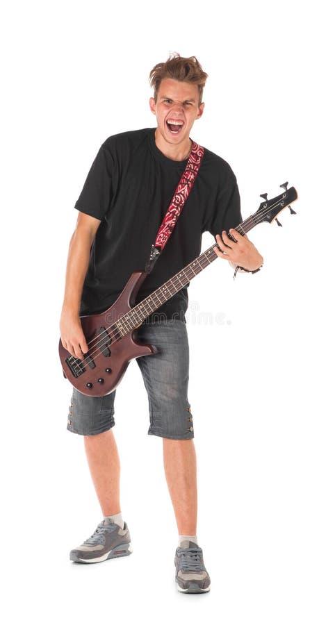 Basowy gitarzysta zdjęcie royalty free