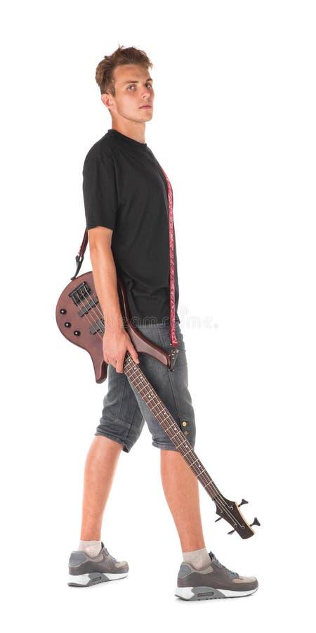 Basowy gitarzysta fotografia royalty free