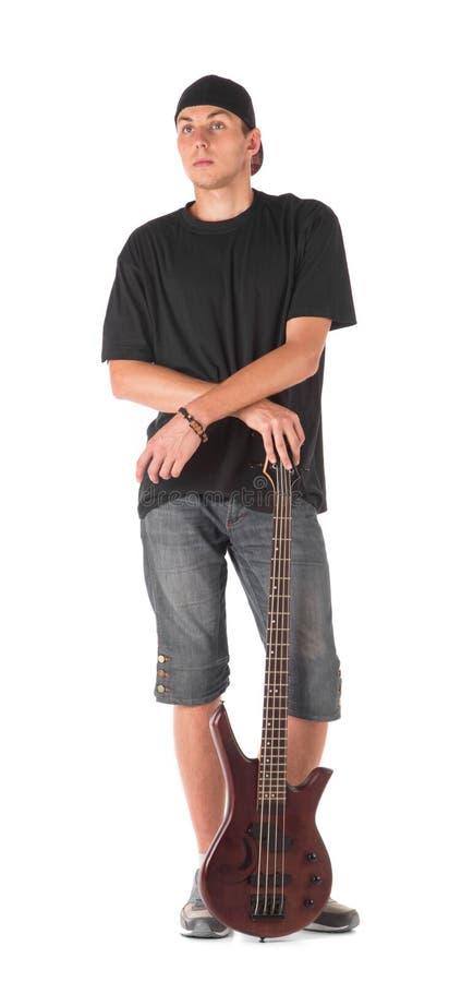 Basowy gitarzysta zdjęcia stock