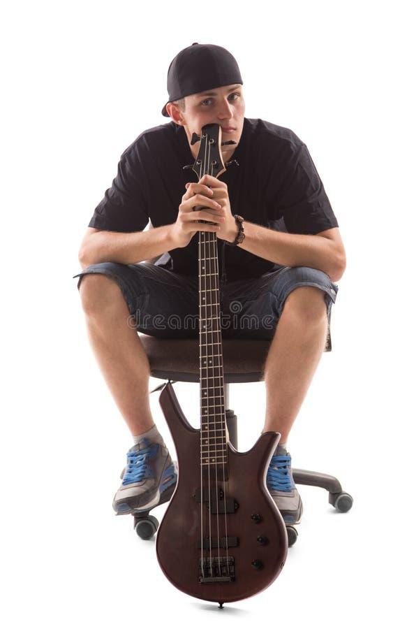 Basowy gitarzysta fotografia stock