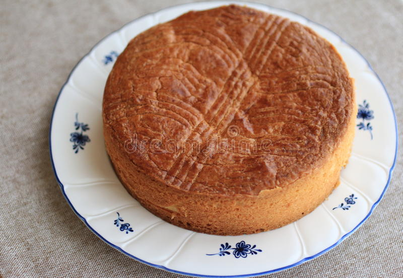 Basque cake. Traditional dessert from Basque region royalty free stock photos