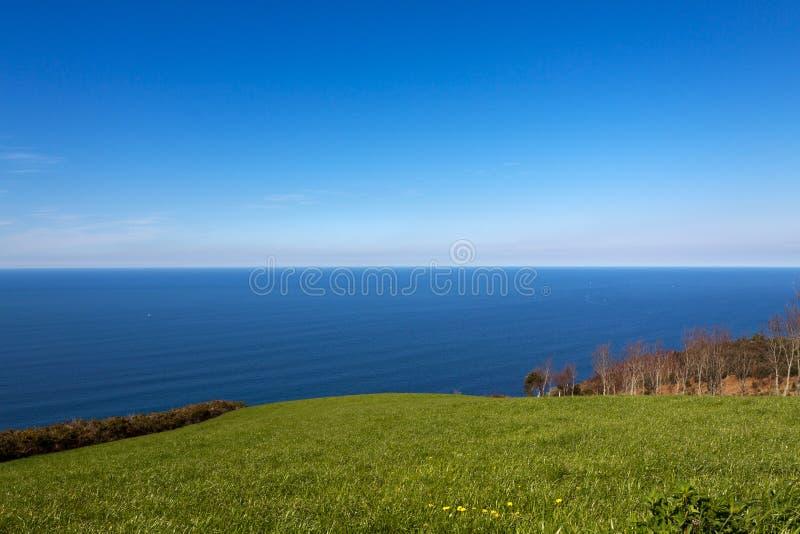 Basque coast of Anglet to Debat stock photography