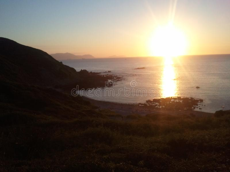 Basque countri sunset royalty free stock photos