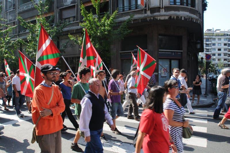 Basque demonstration in San Sebastian - 2011 stock photography