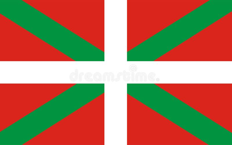 Basque flag . Baskia, autonomus territory in Spain. vector illustration