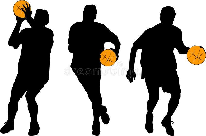 Basquetebol ilustração royalty free