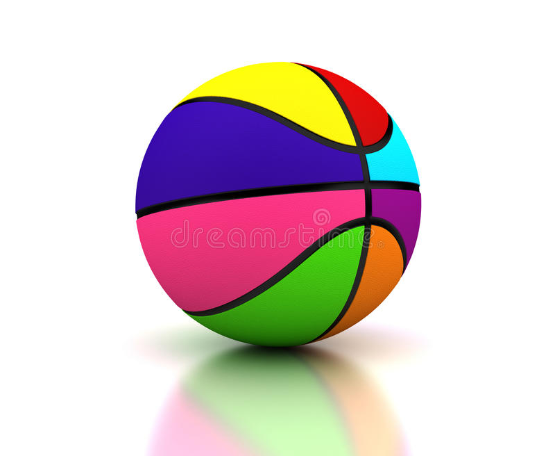 Basquetebol colorido ilustração stock