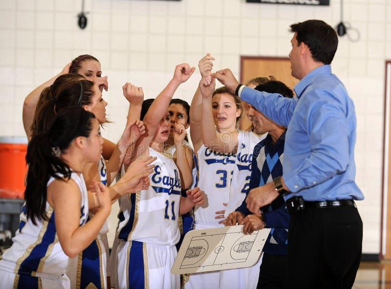 Basquetebol da High School das meninas imagem de stock royalty free