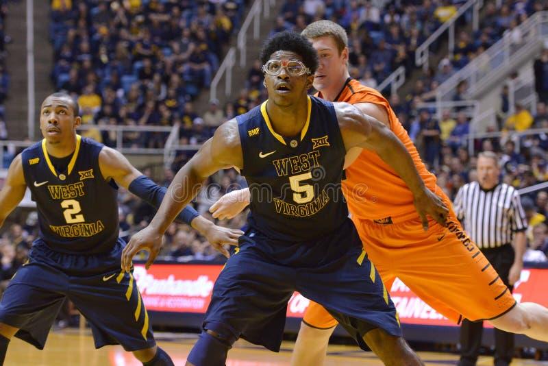 2015 basquetebol do NCAA - estado de WVU-Oklahoma imagem de stock royalty free