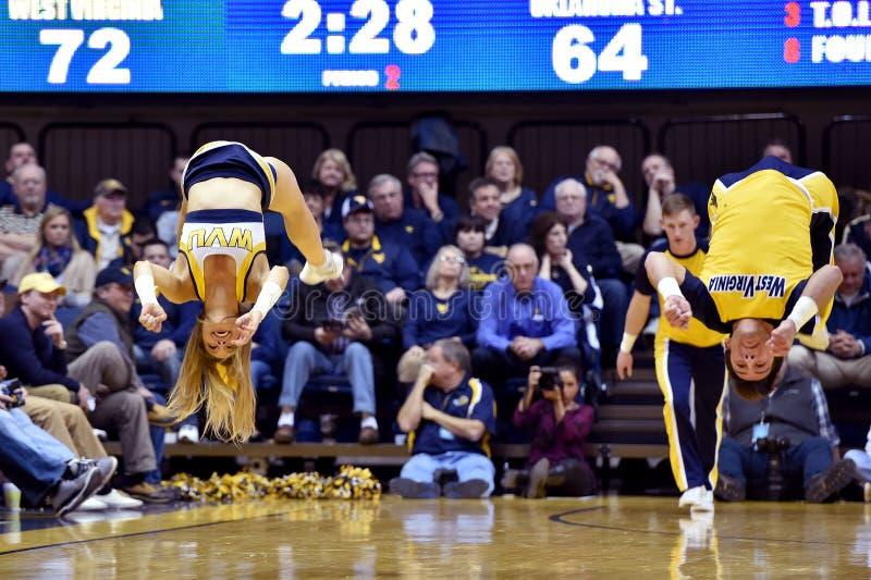 2015 basquetebol do NCAA - estado de WVU-Oklahoma fotos de stock royalty free