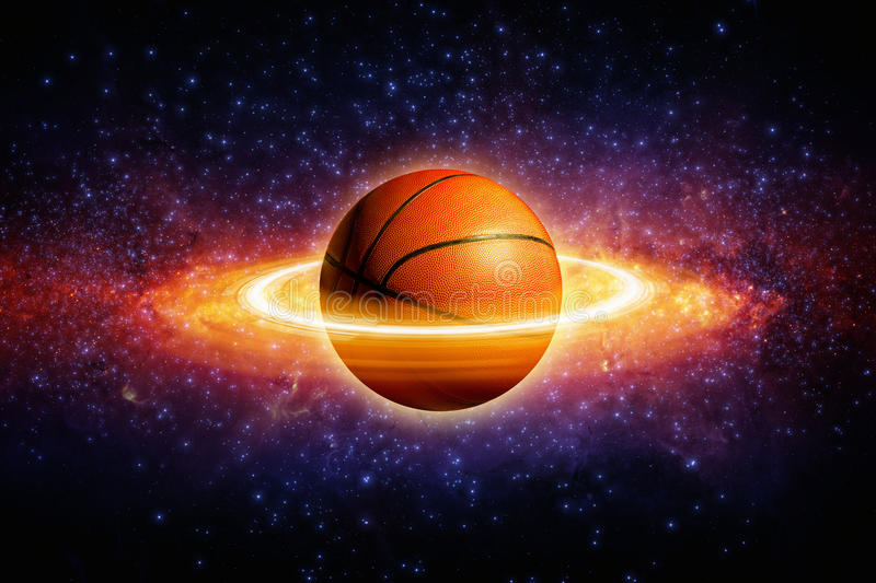 Basquetebol do planeta fotografia de stock royalty free