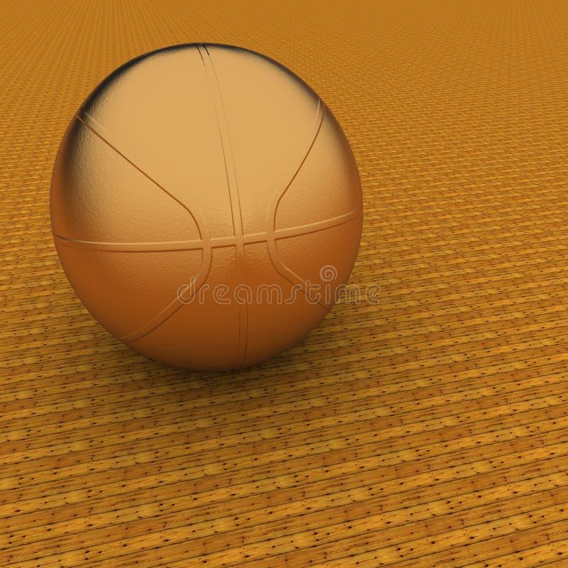 Basquetebol dourado ilustração stock