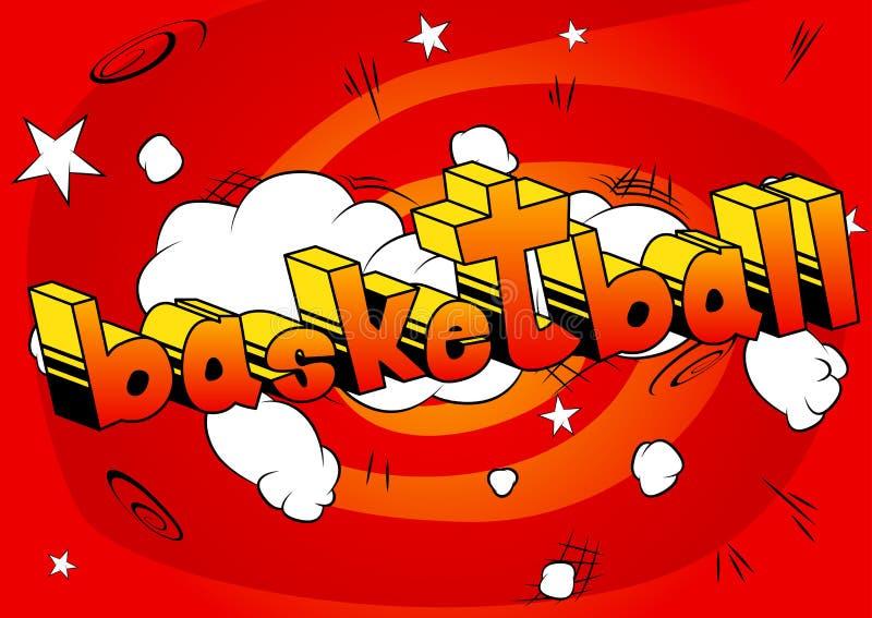 Basquetebol - frase do estilo da banda desenhada ilustração do vetor