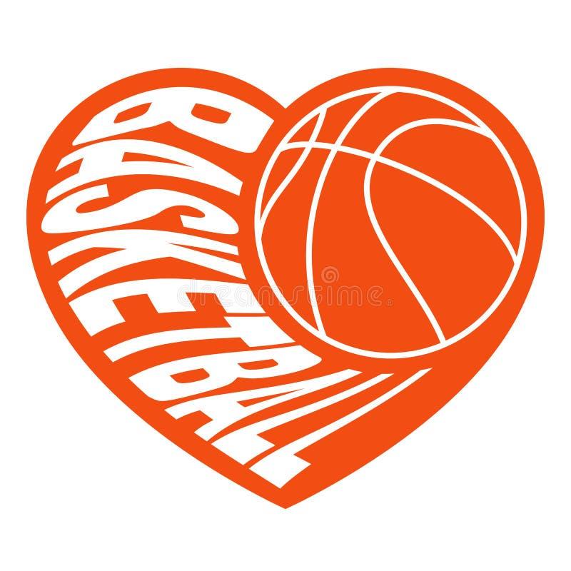 Basquetebol no coração 2 foto de stock royalty free