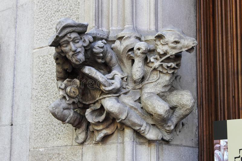 Basrelief στο σπίτι Amatller στη Βαρκελώνη στοκ φωτογραφίες με δικαίωμα ελεύθερης χρήσης