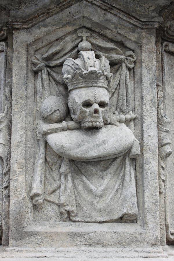 Basrelief del cranio fotografie stock libere da diritti
