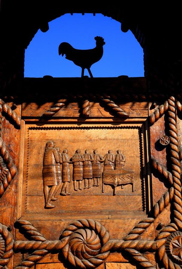 Basrelief di legno tradizionale fotografie stock libere da diritti