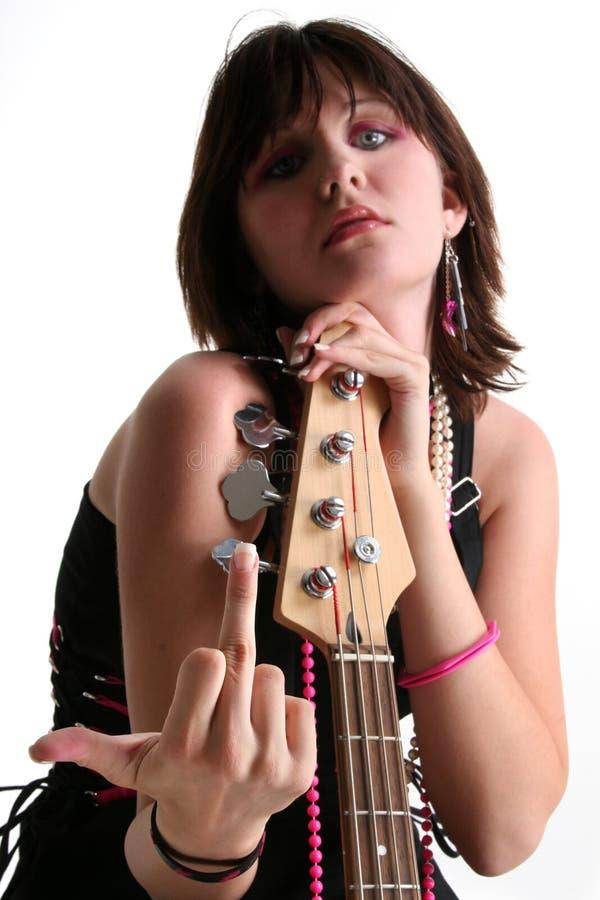 Bass Babe with Attitude V2 royalty free stock photo