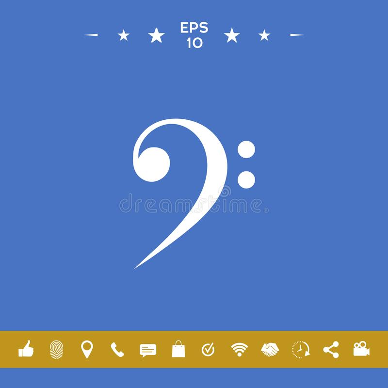 Bass clef icon. Element for your design vector illustration