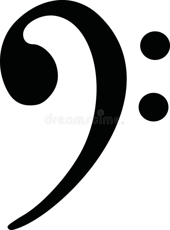 Bass clef vector vector. Bass clef simple vector icon stock illustration