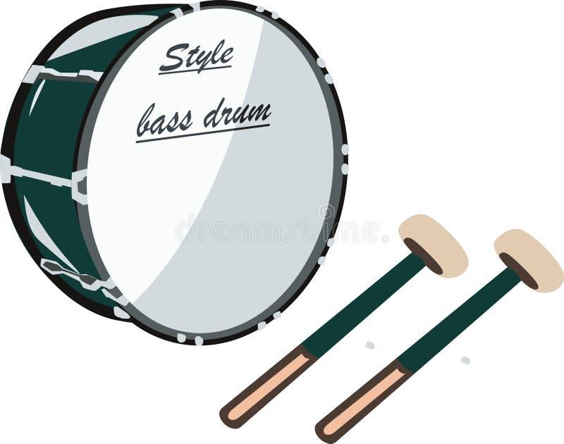 Bass Drum ilustración del vector