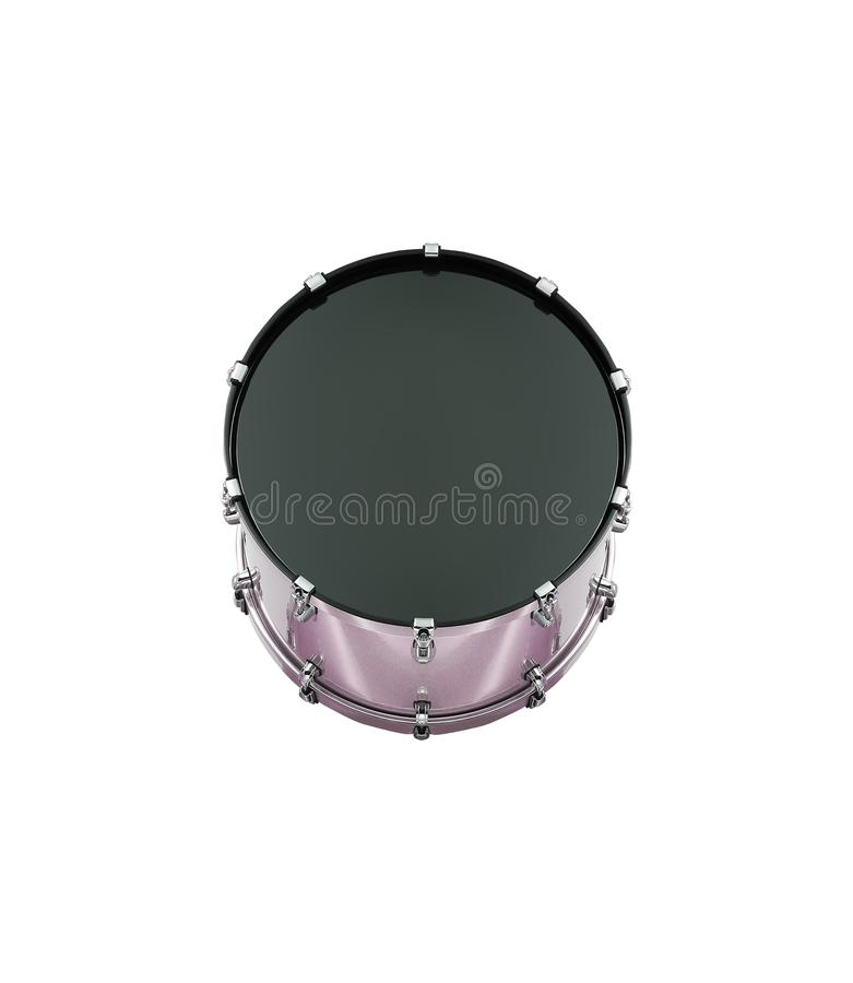 Bass drum isolated on white royalty free stock image