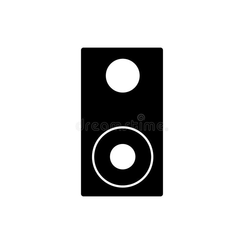 Speaker icon. Bass system sign stock illustration