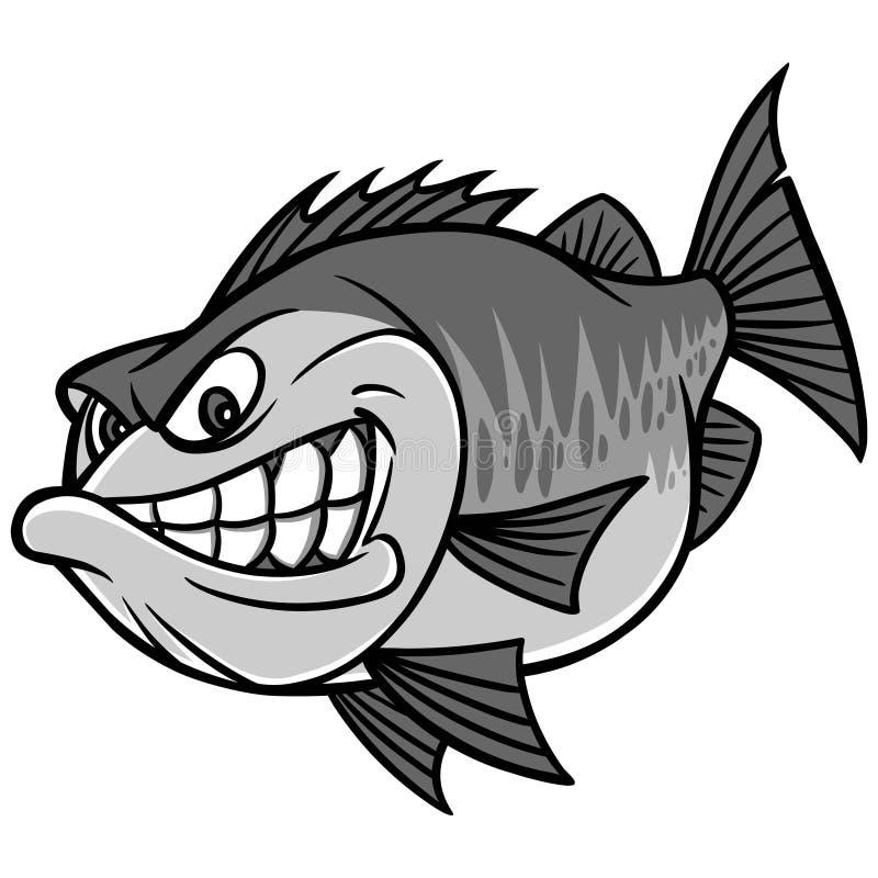 Bass Fishing Mascot Illustration illustration stock