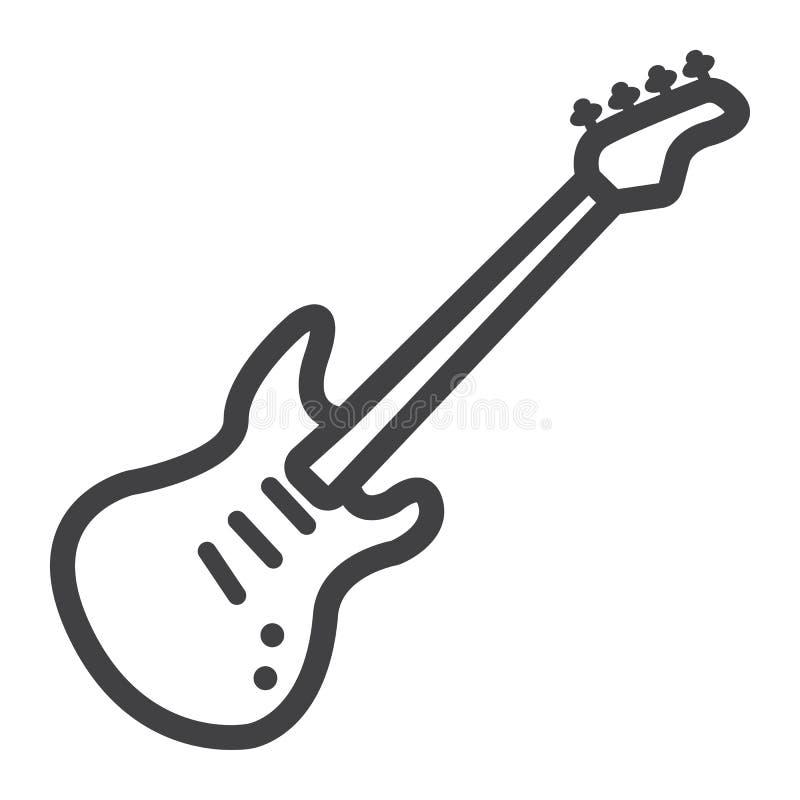 Bass-Gitarrenlinie Ikone, Musik und Instrument stock abbildung