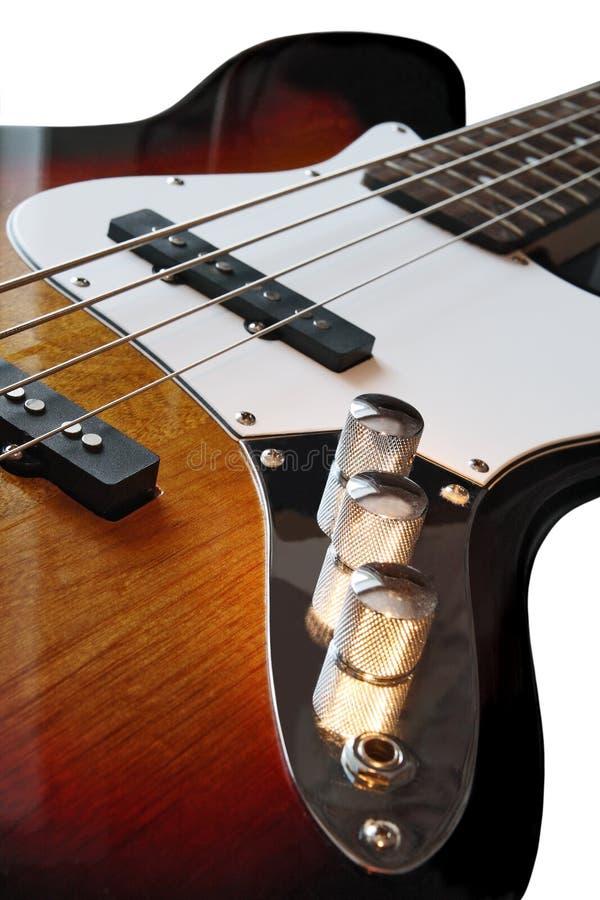 Bass Guitar. Part four string bass guitar stock images
