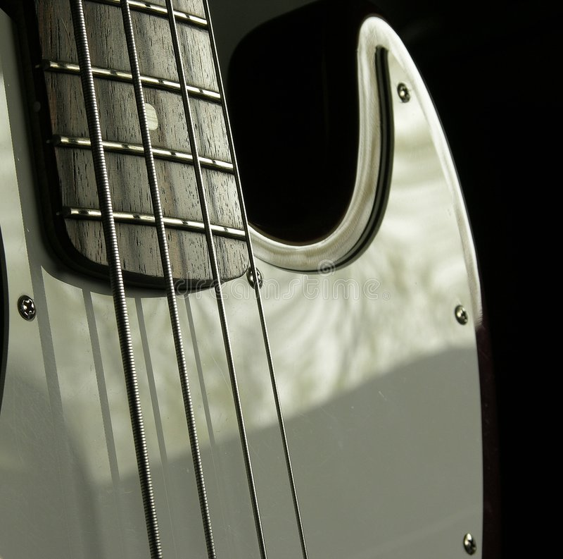 Download Bass Guitar 2 stock image. Image of guitar, section, frets - 114597