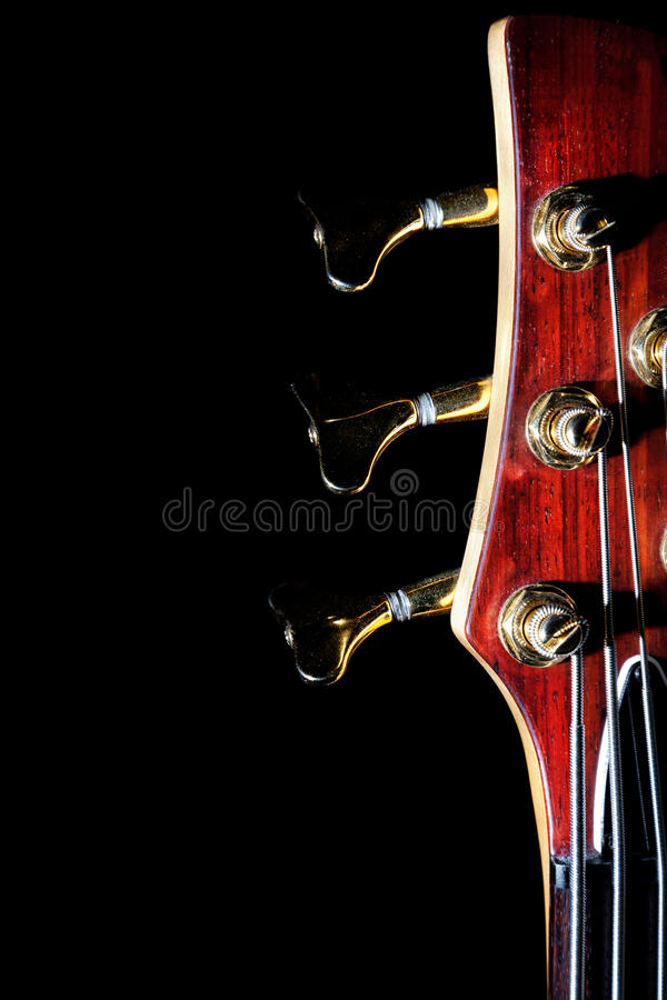 Bass guitar stock image