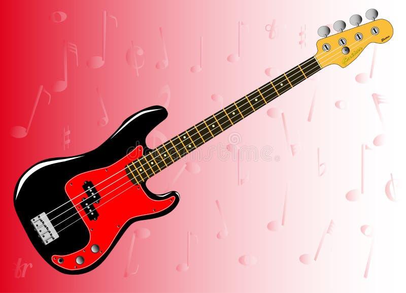 Bass Guitar Background stock illustrationer