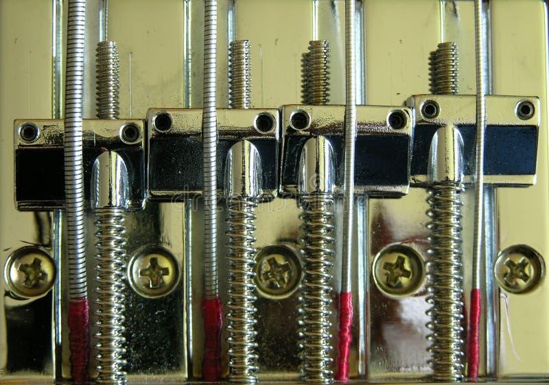 Download Bass guitar Bridge. stock photo. Image of saddles, instrument - 115244
