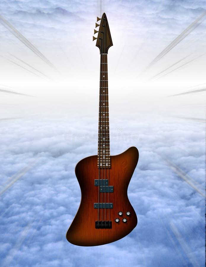 Bass guitar royalty free illustration
