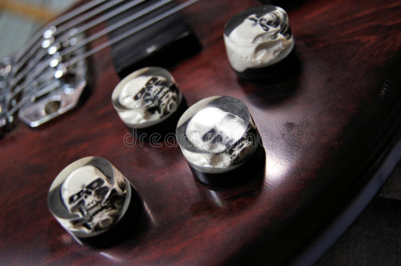 Bass Guitar Knobs images stock