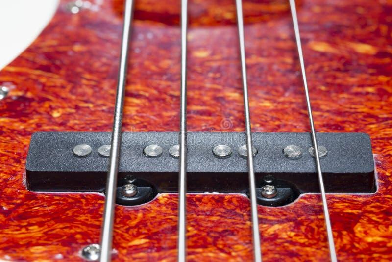 Bass Guitar Pickup Close Up images libres de droits